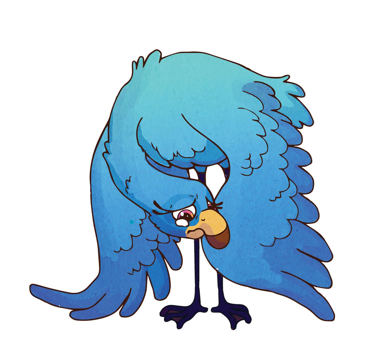Fiona Flamingo - Blue