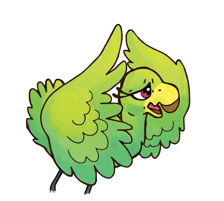 Fiona Flamingo - Green