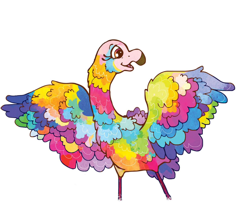 Fiona Flamingo - Rainbow