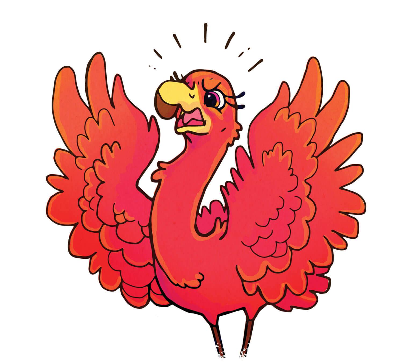 Fiona Flamingo - Red